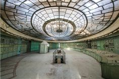 Former control room of the Kelenföld Power Plant in Hungary, Budapest, a century-old facility that was once among the most advanced of its kind but was closed in 2005.