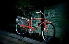 Red bike, by pencil me in, via Flickr
