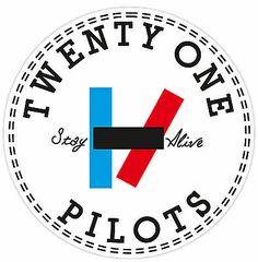 Twenty one pilots Tyler Joseph Josh dun Skeleton clique Stay alive stay street Art Twenty One Pilots, Pilot Tattoo, Band Stickers, Vinyl Paper, Band Logos, Logo Sticker, Tyler Joseph, Staying Alive, Belle Photo