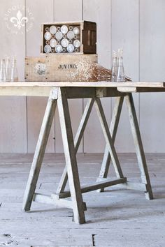 Antique Saw-Horse Table from Provence at 1stdibs