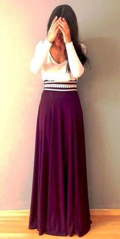White and burgundy dress