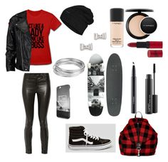 """Untitled #317"" by aly-1234 on Polyvore featuring J Brand, Vans, VIPARO, The North Face, Boohoo, MAC Cosmetics, Worthington, Rimmel and Marc by Marc Jacobs"