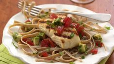 Betty Crocker's Heart Healthy Cookbook shares a recipe! Want to add more fish to your diet? Try this tasty grilled fish with salsa.