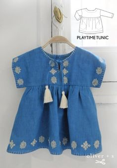 Add tassels to a sleeveless Oliver + S Playtime Tunic