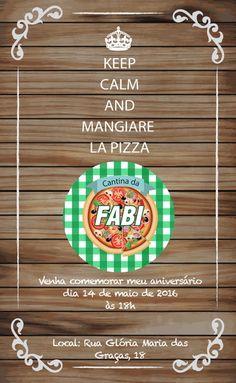 Convite virtual com o tema de Festa Italiana, Rodízio de Pizzas e massas para chá de panela, aniversário.    Envio arquivo em resolução de tela, por email para ser enviado em redes sociais e whatsapp. arquivo em .jpg