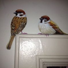& maiwenn in Delft - gail royal - Welcome to the World of Decor! Mural Art, Wall Murals, Painting & Drawing, Mural Painting, Paintings, Delft, Bird Art, Painted Furniture, Decoration