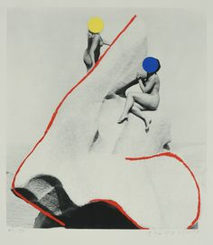 John Baldessari, The Promontory of Noses, Lithograph, 1988  24 1/2 x 22 1/2 inches