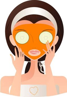 Halloween Mask - Pumpkin At-Home Facial by the beauty-counter: Pumpkin is rich in vitamin A, which is very healing to the skin and is essential to maintain and repair skin tissue. It also helps reduce lines and wrinkles. Honey is a humectant. The cream moisturizes and helps flaky skin.  #Face_Mask #Pumpkin