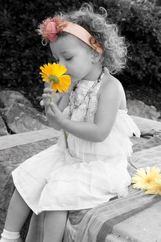 Flower Girl with Yellow Daisies