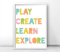 Playroom Wall Decor playroom decor, printable kids wall art, childrens art print, play