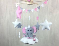 Nube - móviles del bebé - de elefante móvil móvil - vivero móvil - estrellas…