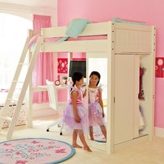 I like that it has a bunk bed, a mirror, a desk and a closet. And I like her…
