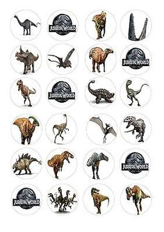 Jurassic park #world #dinosaurs edible fairy cup cake #toppers rice paper x 24 d, View more on the LINK: http://www.zeppy.io/product/gb/2/131598196840/