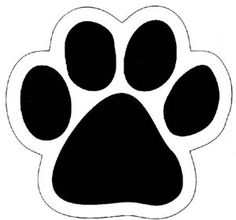 dog paw clip art black paw print silhouette dog art pinterest rh pinterest com paw print clip art black and white paw print clip art free images