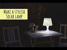 Turn a disused lamp into a solar light for your garden, way more stylish then your usual post lighting. Outdoor Solar Lamps, Solar String Lights, Solar Powered Lights, String Lights Outdoor, Outdoor Decor, Mason Jar Pendant Light, Pendant Light Fixtures, Solar Light Crafts, Diy Solar