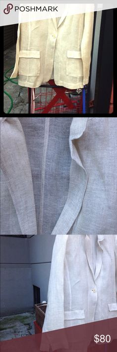Eileen Fisher linen jacket Super sheer fine linen. Great for dressing up outfits in summer or warm climates Eileen Fisher Jackets & Coats Blazers