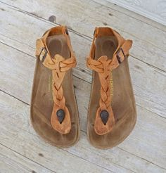 | SUPER RARE | Boho Chic 'Kairo' || BIRKENSTOCK || Braided Leather Sandals | 38 #Birkenstock #AnkleStrap