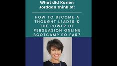 Karien Jordaan has been one of my delegates for the last 3 weeks of the program the Power of Persuasion Presentation Bootcamp. How To Become, Presentation, Thoughts, Ideas