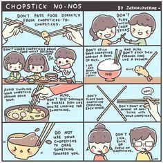 Chopstick No-Nos (●´ω`●)ゞ | JapanLoverMe