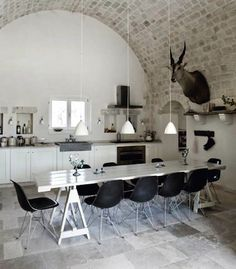 Gorgeous Space-would rather have real chairs and a touch of sparkly gray on the wall