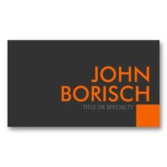 Modern orange gray simple generic professional business card professional grey orange business profile card business card template flashek Image collections