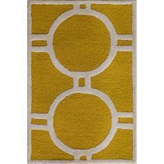 Sandra Ivory & Gold Geometric Wool Hand-Tufted Area Rug