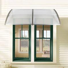 Front Door Awning, Diy Awning, Front Doors With Windows, Awning Canopy, Patio Canopy, Canopy Outdoor, Awning Patio, Door Overhang, Pergola Aluminium