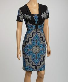 Another great find on #zulily! Blue & Green Arabesque Dress by Gabby Skye #zulilyfinds
