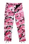 Pink Camouflage BDU Pants are a great quality item. Girls camouflage pants are stylish and perfect for everyday wear.