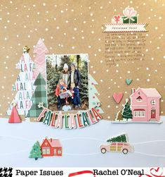Hi Paper Issues Friends & Fans! Amanda here for the December edition of Working Title! And as it's the Season to be Jolly, the challen. Christmas Scrapbook Layouts, Love Scrapbook, Project Life Scrapbook, Scrapbook Designs, Scrapbook Page Layouts, Scrapbook Paper Crafts, Scrapbook Cards, Scrapbooking Ideas, Photo Layouts