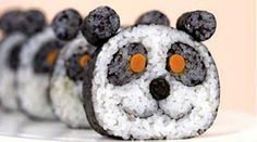 hmmm...another way to make panda sushi. I think I like the other one I pinned better