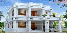2785 sq-ft 5 bedroom Kerala home design Home Building Design, Home Design Plans, Minimalist House Design, Modern House Design, Architectural House Plans, Kerala House Design, Kerala Houses, Bungalow House Design, House Paint Exterior