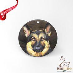 HAND PAINTED DOG SHELL FASHION NECKLACE PENDANT ZP30 01210 #ZL #PENDANT