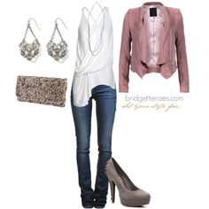 Grey Gals Night Out, created by bridgetteraes on Polyvore