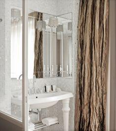 Hotel La Belle Juliette, Paris....love the crushed silk curtain!