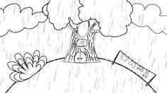 Rain, Rain, Go Away - Illustrations for a New Preschool Song - The Singing Walrus Classic Nursery Rhymes, Rain Go Away, Preschool Songs, Going To Rain, Going Away, Teaching Materials, Behind The Scenes, Music Videos, Singing