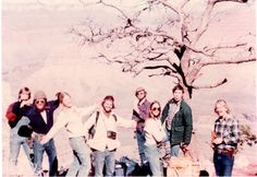 USC geology grad school friends.  Grand Canyon 1978