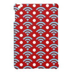Colorful Red Teal Turquoise Rainbows Arches Dots iPad Mini Cover