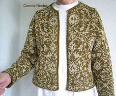 Stranded Colorwork Jacket, Version B by Connie Hester
