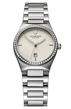 Victorinox Swiss Army® 'Victoria' Diamond Bracelet Watch, 28mm available at #Nordstrom