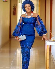 nigerian dress styles Ankara Gown 2019 : Most Gorgeous, Trendy and Popular Ankara Styles for Ladies African Lace Styles, African Lace Dresses, Latest African Fashion Dresses, Ankara Styles, Ankara Fashion, Fashion Skirts, African Style, African Beauty, Nigerian Lace Dress