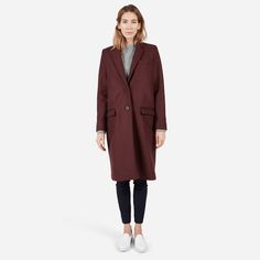 The Wool Overcoat - Burgundy (Also Black)