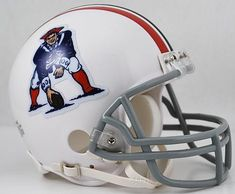 New England Patriots Helmet Riddell Replica Mini VSR4 Style 1965-1981 Throwback