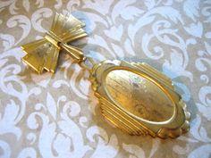 Large Victorian Vintage Locket on Bow Brooch. $42,00, via Etsy.