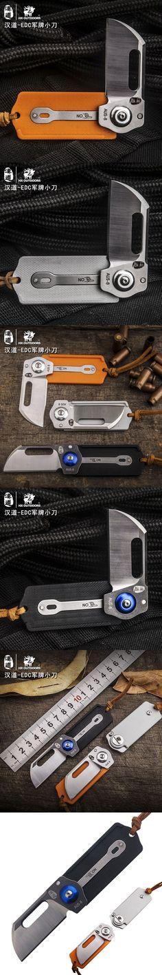 HX OUTDOORS EDC Folding Blade Knife AUS-8 Blade G10 Handle Camping Jungle Pocket Knives Multi Hunting Survival Knife Tools #survivalknife