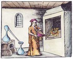 Alchemy: Woodcut From Georg Reisch Margarita Philosophica 1503. An #Alchemy artwork.