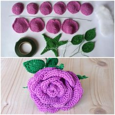 Ravelry: Small Stem Rose by Natagor Finlaysonhandmade jewelry business tipsHow to Crochet Pretty Roses Roses Au Crochet, Diy Crochet Flowers, Crochet Puff Flower, Crochet Fruit, Crochet Flower Tutorial, Crochet Flower Patterns, Crochet Designs, Diy Crafts Knitting, Diy Crafts Crochet
