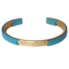bracelet Pailleté bleu canard