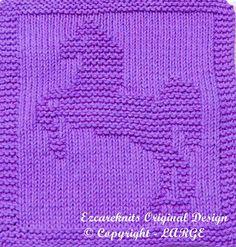 Risultati immagini per knit unicorn pattern Knitted Washcloth Patterns, Knitted Washcloths, Dishcloth Knitting Patterns, Crochet Dishcloths, Knitted Blankets, Knitting Stitches, Knit Patterns, Baby Knitting, Horse Pattern