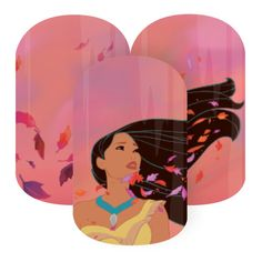 Colors of the Wind | Disney Collection by Jamberry | Volume 3 | Pocahontas | The magical breeze of autumn-colored leaves swirl around the Disney Princess in this Pocahontas-inspired design, 'Colors Of The Wind'.